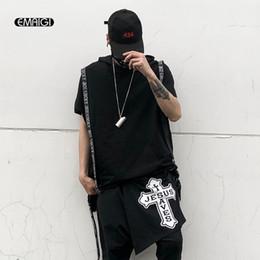 8cd5741030b8 man hip hop dance costume 2019 - Men Short Sleeve Hooded Tshirt Male  Streetwear Fashion Casual
