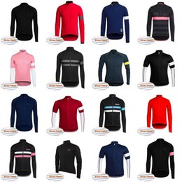Wholesale Race Team Jackets - RAPHA team Cycling Winter Thermal Fleece jersey Top Men Bike Racing Cycling Jackets Windproof Clothes sportswear outdoor D821