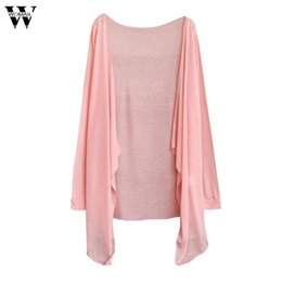 Wholesale modal clothing wholesale - New 2018 Summer Women solid Long Thin Cardigan Modal Sun Protection Clothing Tops
