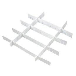 Wholesale Wholesale Plastic Drawer Organizers - DHDL! 6x White Plastic DIY Grid Drawer Divider Storage Classify Subarea Organizer Home