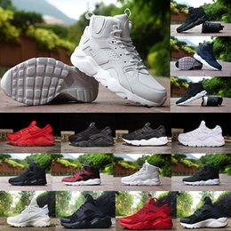 Wholesale Cheap White Shoes For Women - Air Huarache IV 4 1 Running Shoes For Men&Women High Quality Cheap Sneakers Air Huaraches Run Sports Running Shoes Triple White Black