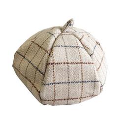 Boina de lã coreana on-line-Senhora boina outono inverno versão Coreana do estilo Japonês correspondência de lã preto chapéu abóbora ocasional chapéu do artista de moda Britânica