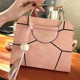 13c7a6073 Fashion Women's Handbag Ladies Solid PU Leather Tassel Shoulder Bag  Crossbody Bags With Hello Kitty Handlebar