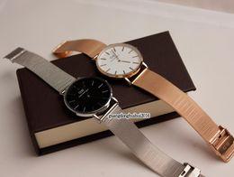 2019 dw relógios de pulso 2019 Top luxo Daniel mulheres homens moda de Wellington dw Amantes mulheres malha de aço relógios de ouro dos homens marca montre femme relojes relógios de Pulso dw relógios de pulso barato