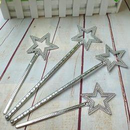 Nastro stella bacchetta magica bambini ragazza Cosplay fata principessa elfo angelo bacchetta filanti puntelli compleanno XMAS partito bag filler favore 22 cm da
