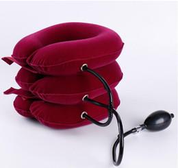 Wholesale Neck Braces - Velvet Neck Massage Tool Traction Soft Comfort Brace Device Unit for Head Back Shoulder Neck Pain Health pain Durable