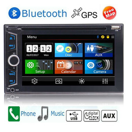 Wholesale Remote Control Music Player - 6.2'' Double 2din in Dash Car DVD CD Player GPS Stereo Radio HeadUnit Bluetooth SD Video Audio Music playing+Remote Control+Colorful Lights