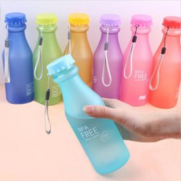Wholesale candy drinks - Candy Colors Unbreakable Frosted Leak-proof Plastic kettle 550mL BPA Free Portable Water Bottle for Travel Yoga Running Camping