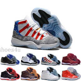 Wholesale Man S High Boots - [With Box] 11 11s Basketball Shoes 72-10 Concord Bred Space Jam Legend Blue Basket Ball Sneakers Women Men High Top Boots s XI
