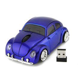 Escarabajo del ratón online-Lujo Beetle Car Wireless Mouse USB Gaming para equipos de escritorio Pc USB Gadget 2.4G Ratones Optical Mause Mouse para computadora Oficina