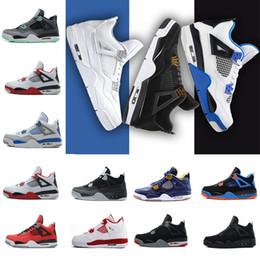 Tecido impermeável para barato on-line-Chegou novo Barato alta qualidade à prova d 'água 4 homens tênis de basquete todos branco barato Basquete Men Athletic Shoes para venda Szie 8.0-13