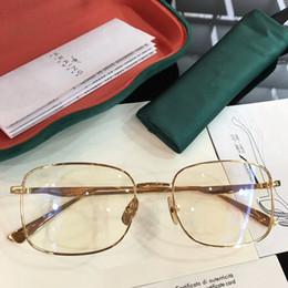 cd4fa2649243 lightweight case Canada - NEWEST G03880 glasses frame Mutil-color metal  rectangular-frame 55