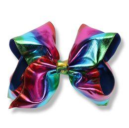 Wholesale Large Bows For Hair - 16cm Mermaid Christmas JoJo Bows Dancing Jojo Bow for Children Birthday Party Signature Metallic Hair Bows Jojo Siwa Style Large Bows