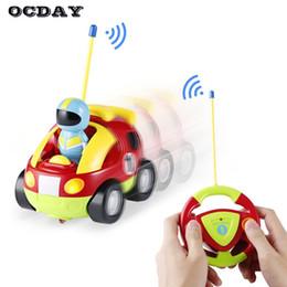 Wholesale Automotive Plastics - OCDAY New Cartoon Remote Control Car Race Cars Model Educational Baby Kids Light Music Toys Gift Automotive Radio Control RC Car