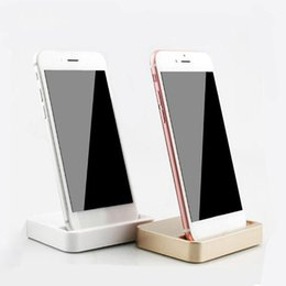 Iphone dock cradle ladegerät online-Universal Dock Ladestation für iPhone 7 7 Plus 8 8 Plus Desktop Ladestation Ladestation für iPhone X mit Kleinpaket