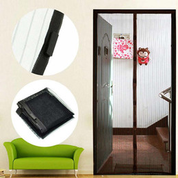 mosquito mesh curtains Promo Codes - Magic mesh hands free magnetic mosquito net door screen soft yarn door curtain anti insect fly Free Shipping 210x100cm