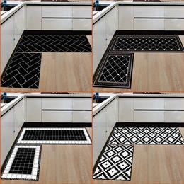 tapis de mousse Promotion Tapis pour la maison et la cuisine Tapis modernes Tapis antidérapants Tapis d'entrée pour tapis de chemin de roulement (15,7 * 23,6 pouces + 15,7 * 47,2 pouces)