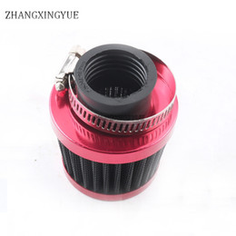 Wholesale Atv Cdi - 28mm 32mm 35mm 38mm High Performance Racer Air Filter for Scooter Motorcycle Scooter Kart ATV red
