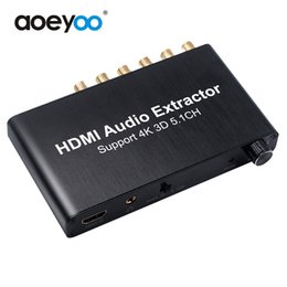 Wholesale Digital Dts - AOEYOO Converter HDMI Audio Decoder 4K Converter Audio Dolby 5.1 Decoder Support DTS AC-5 For DVD HDTV DTS Digital Audio Decoder