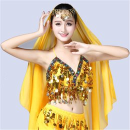 d219ab6c8f red belly dance chain UK - Sexy Women Belly Dance Bra Top Egypt Style Chain  Sequined