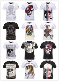 Wholesale Sleeve Flash - New Men Summer new product T Shirt Fashion Short Sleeve t-shirt Clothing Casual Skull Letter print Hip Hop new style Man t-shirt Clo