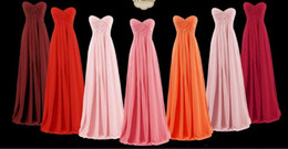 Wholesale White Plus Size Formal Dresses - Sweetheart Chiffon Country Bridesmaid Dresses Cheap Formal Maid of Honor Backless Beach Custom Made Plus Size Dresses Party Evening In Stock