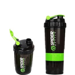 Wholesale Country Bags - Bodybuilding Water Bottle Three Layers Rocking Cup Spider Protein Shaker Sports Scale Milkshake High Capacity Plastic 7 5xg V