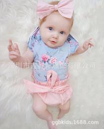 2019 baby rüsche blüht rosa 2018 INS Baby Mädchen Kleinkind 2 Stück Set Outfits Rüschen Ärmel stieg floral Tank Tops Shirts Weste + rosa Bogen Hosen Shorts Pumphose Windelabdeckungen günstig baby rüsche blüht rosa
