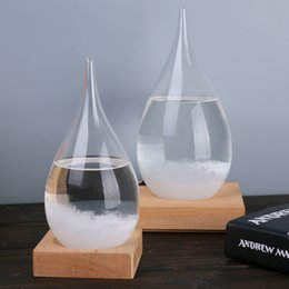 Wholesale Globe Bottle - 21.5*9.5cm Storm Glass Weather Glass Weather Forecast Bottle Crystal Tempo Water Drop Globes Creative Storm Glass Craft Arts Gifts