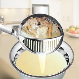 panelas de sopa de aço inoxidável Desconto Mais quente Panela de Sopa Panela de Sopa de Aço Inoxidável Utensílios de Cozinha Longo-manipulado Skimmer Fino Filtro de Malha LZ0940