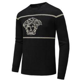 Argentina Otoño e invierno nuevos hombres de manga larga suéter de cuello redondo suéter de gama alta punto de moda casual cómodo Suministro