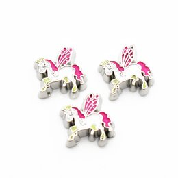 Wholesale glass tale - Hot sale 20pcs lot fairy tale unicorn floating charms living glass memory floating lockets for DIY Accessory