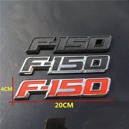 Wholesale Cool 3d Logos - New Cool 3D ABS F150 LOGO Car Sticker Side Emblem Decal Rear Badge For Ford F150