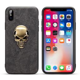 2018 Yeni Moda Metal Kafatası Başkanı Peluş Telefon Kılıfı Sert Arka Kapak için iPhoneX 8 7 6 Artı nereden