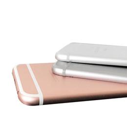Canada Boîtier arrière en métal pour iphone 6 6g arrière couvercle du boîtier de la batterie + pièces bouton latéral souhaitent IMEI Offre