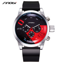 Wholesale Analog Timers - Wholesale-SINOBI Watches Men Sportwatch Relogio Masculino Men's Quartz Watch Silicone Watchband Big Dial Luxury Wristwatch Timer 2017
