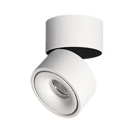 Montaggio spot online-7/10 / 12w Faretto COB da incasso su binario / binario Lampada bianco / nero Lampada da soffitto AC220V Spot Lampada da soffitto girevole LED Spot