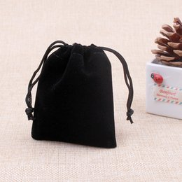 Wholesale Small Velvet Jewelry Pouches - Jewelry Package Bags Small Gift Display Box Pouches Supply Cheap 200pcs Black Velvet Bags 9x12cm Drawstring Storage Pouch