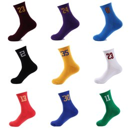 Wholesale running numbers - Compression Socks Sport Football Soccer Socks Number for Sports Running Outdoor Training Basketball Support FBA Drop Shipping G500S