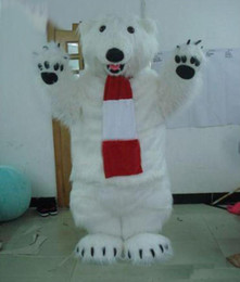 Wholesale Character Suits Mascots - 2018 High quality hot polar bear Bear Character Mascot Costumes Halloween Costume Cartoon Outfit Fancy Dress Suit Adult Size.