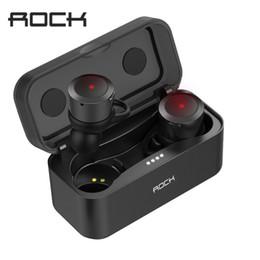 Wholesale Rock Earphones - ROCK Twins True Wireless Earbuds Mini Bluetooth Earphone In-Ear Stereo Headset TWS With Charging Box