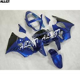 Argentina Juego de carenados de plástico negro azul llama plástico ajustado para Kawasaki Ninja ZX6R 636 2000 2001 2002 00 01 02 azul piezas de la carrocería Suministro