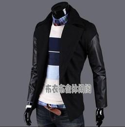 703768607093 2018 jugend langer schwarzer mantel Schwarzer Herbst Winter warme  Zweireiher Wolle Mantel Männer Mantel Spleiß lange