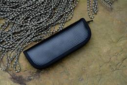 Couteau de poche en cuir en Ligne-PU sac de poche couteau gaine en cuir pour couteaux outils de plein air poche de couteau storange étui à couteau 2pcs / lot