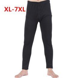 Wholesale Plus Size Winter Print Leggings - Plus Size 7XL winter Warm Men cotton leggings Tight Men Long Johns Plus Size Warm Underwear Man thermal underwear