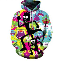 Wholesale Pink Animations - New Fashion Couple Men Women Unisex American Adult Animation Rick And Morty 3D Print Hoodies Sweater Sweatshirt Jacket Pullovers LM2