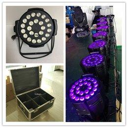Argentina 6 piezas con flightcase 24x18w 6in1 RGBWAUV led par light stage led par light 6in1 indoor led par latas Suministro