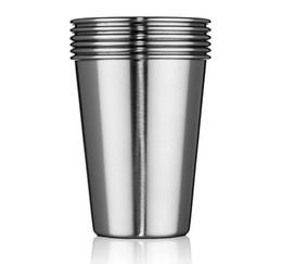 Best-seller 350ml de aço inoxidável Cups 12 Oz Pint Copos de água copos empilhável e taças Unbreakable de