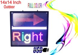 """Wholesale Led Open Outdoor Sign - LED SIGN 14""""x14"""" Outdoor Programmable colorfull Display Open Message Sign Board"""