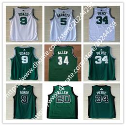 Wholesale allen white - Men's 5 Kevin Garnett 9 Rajon Rondo 20 Ray Allen jersey 34 Paul Pierce Green White basketball jerseys